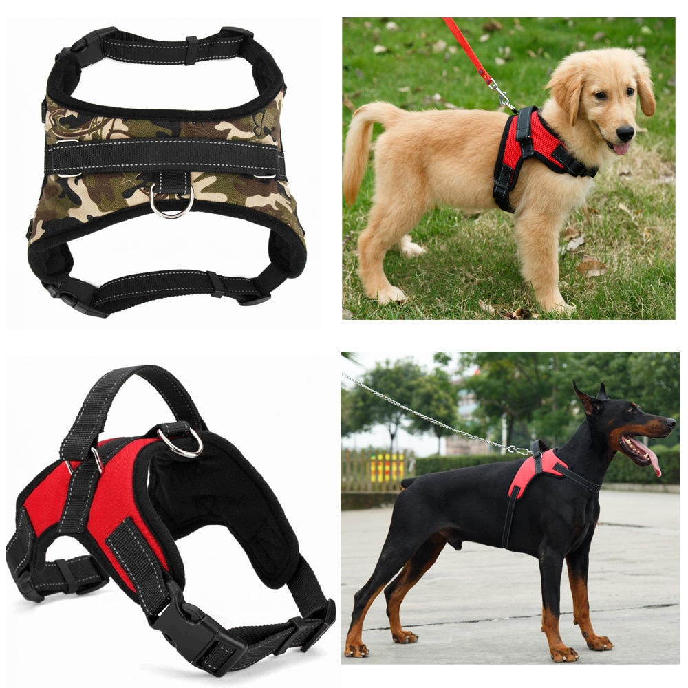 Nylon-Heavy-Duty-Dog-Pet-Harness-Collar-Adjustable-Padded-Extra-Big-Large-Medium-Small-Dog-Harnesses